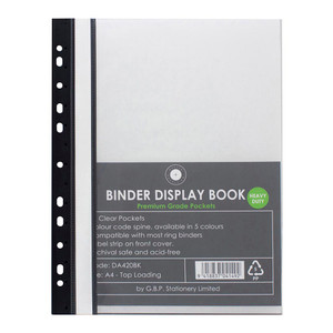 OSC Binder Display Book A4 20 Pocket Black
