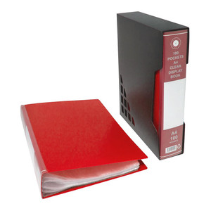 OSC Display Book A4 100 Pocket with Case Red