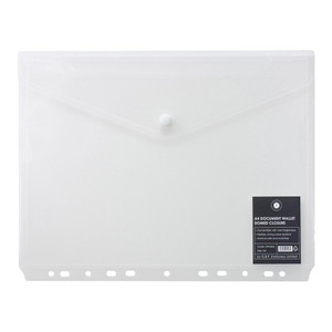 OSC Binder Document Wallet A4 Domed Clear