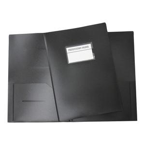 OSC Presentation Folder A4 with Name Holder Black