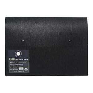 OSC Eco Document Wallet A4 Domed Closure Black