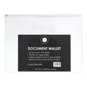 OSC Document Wallet A4 Zip Closure Pack of 5
