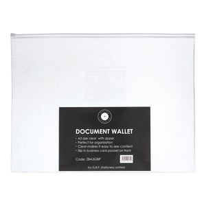OSC Document Wallet A3 Zip Closure Pack of 5