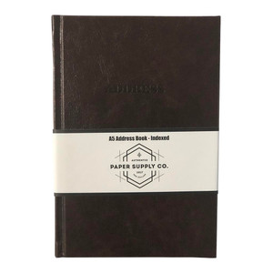 OSC Address Book A5 Vintage Brown