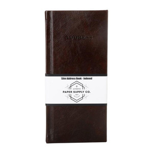 OSC Citta Address Book Vintage Brown