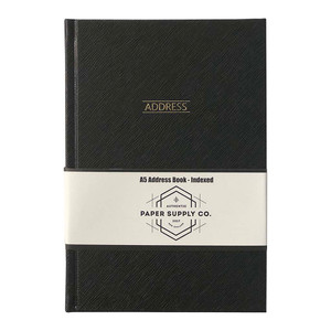 OSC Citta Address Book A5 Black