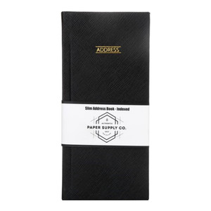 OSC Citta Address Book Slimline Black