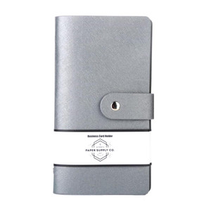 OSC Citta Business Card Holder Silver 96 cards