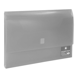 OSC Document Wallet FC Velcro Closure Clear