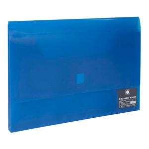 OSC Document Wallet FC Velcro Closure Blue