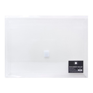 OSC Document Wallet A4 Velcro Closure Clear