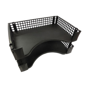 OSC Document Tray Stackable Black Pack 2