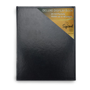 Squirrel Deluxe Display Book A4 Leatherette 24 Pocket