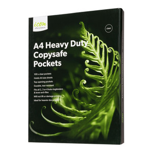 Icon Copysafe Pockets Heavy Duty A4 Pack of 100