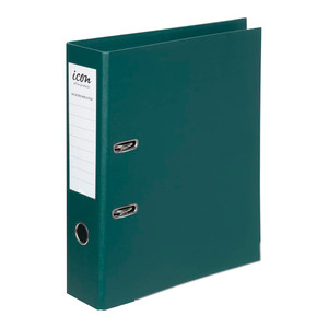 Icon Lever Arch File A4 Linen Forest Green
