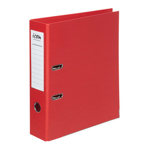 Icon Lever Arch File A4 Linen Red