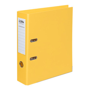 Icon Lever Arch File A4 Linen Yellow