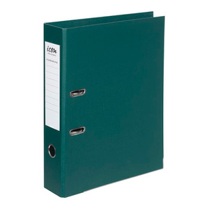 Icon Lever Arch File FS Linen Forest Green