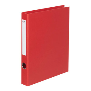 Icon Ringbinder Linen A4 2D 26mm Red