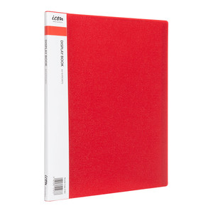 Icon Display Book A4 with Insert Spine 10 Pocket Red