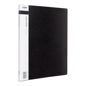 Icon Display Book A4 with Insert Spine 20 Pocket Black