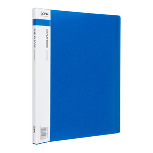 Icon Display Book A4 with Insert Spine 20 Pocket Blue
