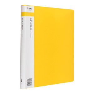 Icon Display Book A4 with Insert Spine 40 Pocket Yellow