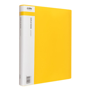 Icon Display Book A4 with Insert Spine 60 Pocket Yellow