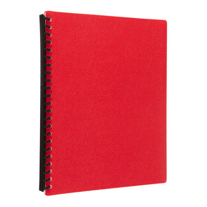 Icon Refillable Display Book 20 Pocket Red