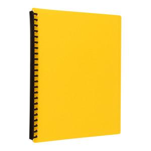 Icon Refillable Display Book 20 Pocket Yellow
