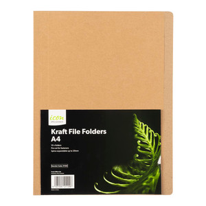 Icon Kraft File Folders A4 Pack of 10