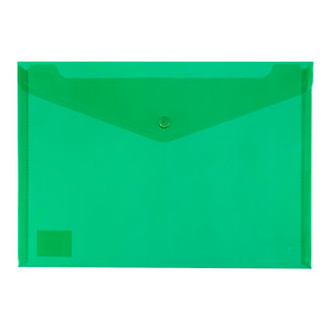 Icon PP Document Wallet A4 Button Closure Green