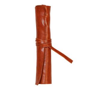 Flying Spirit Pencil Case Roll Cognac