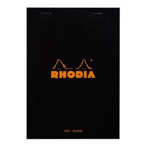 Rhodia Bloc Pad No. 16 A5 Blank Black