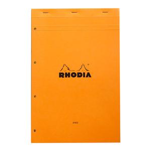 Rhodia Bloc Yellow Pad No. 119 A4+ Lined Orange