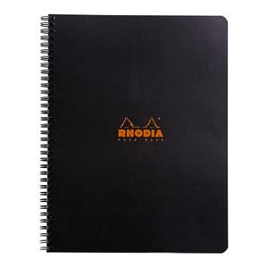 Rhodia Classic Notebook Spiral A4+ Grid Black