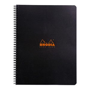Rhodia Classic Notebook Spiral A4+ Lined Black