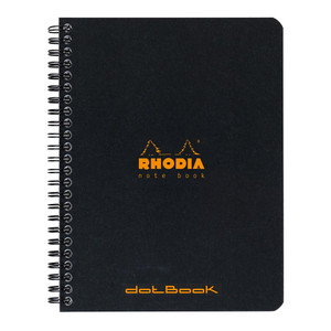 Rhodia Classic Notebook Spiral A5+ Lined Black