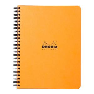 Rhodia Classic Notebook Spiral A5+ Lined Orange