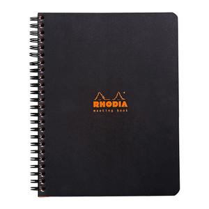 Rhodia Meeting Book Spiral A5+ Black