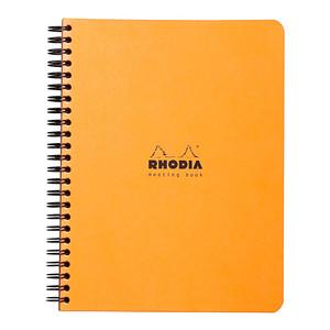 Rhodia Meeting Book Spiral A5+ Orange