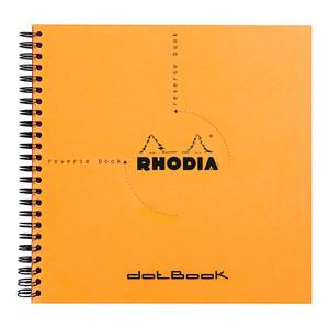 Rhodia Reverse Book Spiral 210x210mm Dotted Orange