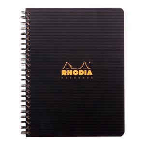 Rhodiactive Notebook Spiral A5+ Lined Black