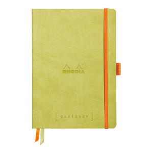 Rhodiarama Goalbook A5 Dotted Anise Green