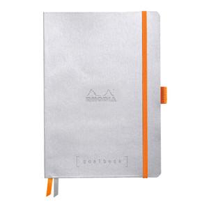 Rhodiarama Goalbook A5 Dotted Silver