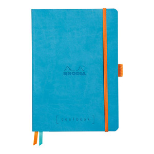 Rhodiarama Goalbook A5 Dotted Turquoise