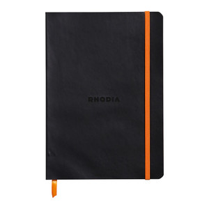 Rhodiarama Softcover Notebook A5 Lined Black