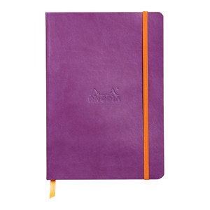 Rhodiarama Softcover Notebook A5 Lined Purple