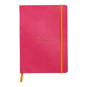 Rhodiarama Softcover Notebook A5 Lined Raspberry