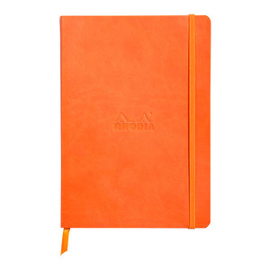 Rhodiarama Softcover Notebook A5 Lined Tangerine